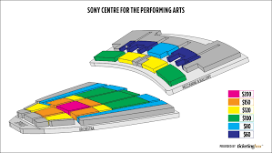 Toronto Sony Centre For The Performing Arts Seating Chart