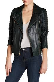 image of vince camuto asymmetrical zip genuine leather moto jacket