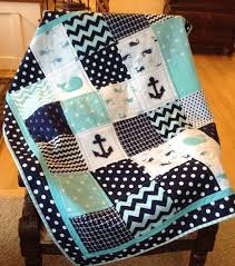 2614 best Sewing-Quilts images on Pinterest | Blog, Centerpieces ... & Nautical Anchor & Baby Whale quilt in teal navy by Lovesewnseams Adamdwight.com