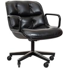 charles pollock executive desk chair for knoll at stdibs
