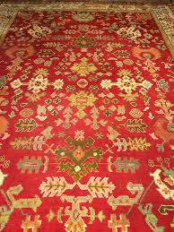 antique oushak rug 10 6 x14 6 c 1900