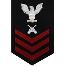 Navy E 4 5 6 Gunners Mate Rating Badge Usamm