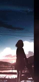 1440x2960 Anime Girl Moescape Alone ...