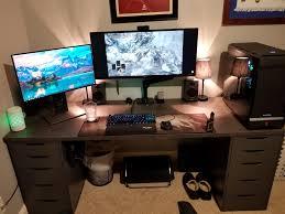 home elegant 3 monitor computer desk 28 massive two screen ideas reddit desks amazing 3