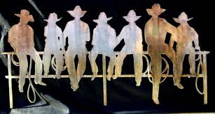 cowboys fence on cowboy metal wall art with cowboys fence signtorch turning images into vector cut paths
