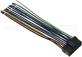 wire harness for sony cdx 4000x cdx4000x *pay today ships today* ebay Sony Xplod Wiring Harness at Sony Cdx 4000x Wiring Harness