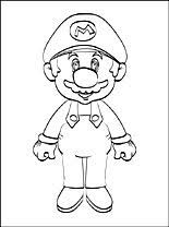 Super Mario Da Colorare On Line Disegno