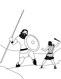 David And Goliath Coloring Page Free Printable Coloring Pages