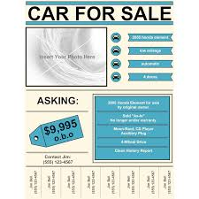 Car Sale Sign Template Car For Sale Flyer 12