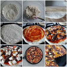 easy homemade pizza dough with self rising flour. self raising flour) baking powder - 1 1/2 tsp. salt 1/3 tsp salt. warm water cup. olive oil 2 tbsp plus extra for spreading easy homemade pizza dough with rising flour