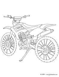Coloriage Moto Cross Kawasaki