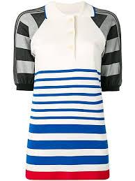 sonia rykiel striped polo shirt white