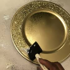 diy bling charger plates ideas