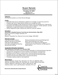 Fast Food Resume Fast Food Manager Resume Cover Letter Template Design 38
