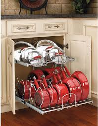 Kitchen Cabinet Pots and Pans Organization | Pan storage ...