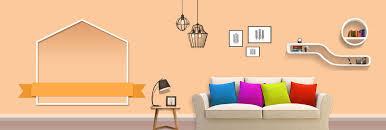 Light Orange Small Fresh Home Carnival Banner Pale Orange Simple