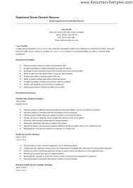 Sample Student Nurse Resume Free Resume Templates 2018