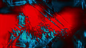 Red And Blue On Black Abstract Psychedelic Defocused Technology Surfaces And Spots Background Animation