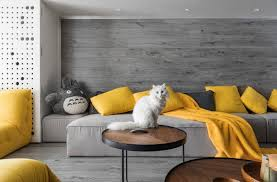 Space friendly furniture Bedroom Contemporary Openplan Living Space With Yellow And Gray Accents And White Cat In Indesignlive Stylish Catfriendly Furniture For The Modern Home Nonagonstyle