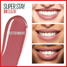 Maybelline 24 Hour Lipstick Colour Chart Maybelline New York Superstay 24 2 Step Liquid Lipstick Makeup Frosted Mauve