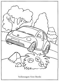 Kleurplaten Paradijs Kleurplaat Volkswagen New Beetle