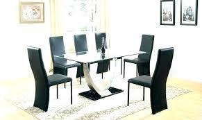 black glass dining tables glass black dining table dining table sets for 6 6 chair dining