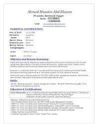 Career Objective For Resume For Civil Engineer Quality Engineer Resume Electrical Engineering Resume Sample 85