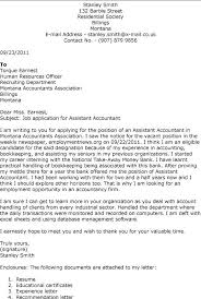 Accounting Cover Letter With No Experience Sample Assistant Best