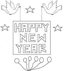 Happy New Year Coloring Pages For
