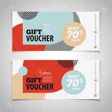 Blank Voucher Template Abstract Gift Voucher Or Coupon Design Template Voucher Design