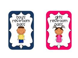 elementary school bathroom clipart.  Clipart Restroom Pass In Elementary School Bathroom Clipart A