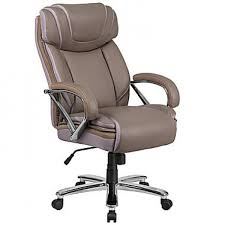 hercules series 500 lb capacity big tall taupe leather executive swivel office chair