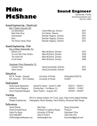 Game Audio Engineer Sample Resume Bunch Ideas Of Resume Cv Cover Letter Back To Post Sample Of Video 13