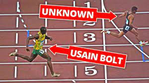 Evolution of Usain Bolt's Speed