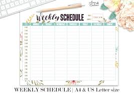 Daily Homeschool Schedule Template Homeschool Planner Template