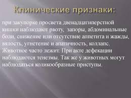курсовая хирург Тузов инородка пёрстная online presentation  Клинические признаки Дифференциальная