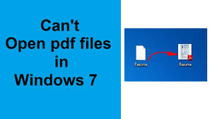 Can T Open Pdf Files In Windows 7 Solved Youtube