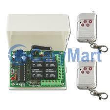 100M 4 Channel Toggle Mode DC 6V 9V 12V 24V Wireless Remote