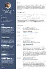 Creative Marketing Resume Online Marketing Resume Samples And Templates Visualcv