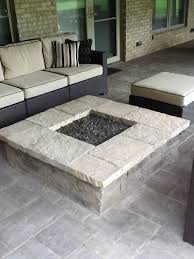 square paver patio with fire pit. Columbus Square Fire Pit Paver Patio With
