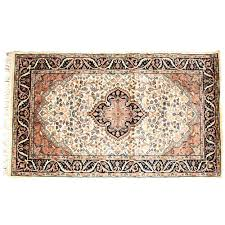 black white 3 5 persian hand knotted wool rug