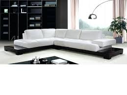 white faux leather sectional sofa inspirational modern cream