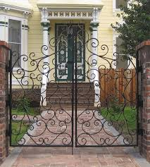 Decorative Wrought Iron Gate Historic Folsom Vintage Iron