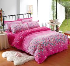 modern solid pink comforter