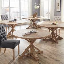 benchwright rustic x base round pine wood dining table inspire q with dining round table with regard to desire