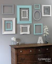 shabby chic decor 10 piece upcycled distressed custom picture frame set hawthorne collection open frame set nursery baby room ideas shabby chic