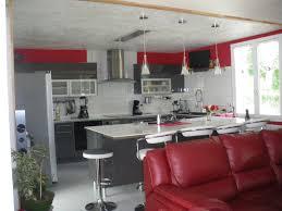 Fabuleux Cuisine Rouge Et Gris Moderne Zh02 Montrealeast
