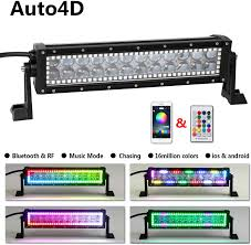Color Changing Led Light Bar For Truck Amazon Com Auto4d 12 Inch 72w Straight 4d Cree Color