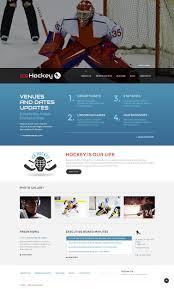 Pad Website Design Website Template 49077 Hockey Sport Ice Custom Website