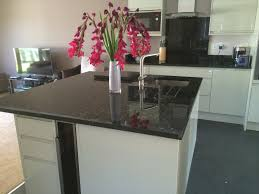 Granite Kitchen Worktop Emerald Pearl Granite Kitchen Worktops With Island Splashback